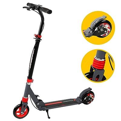 Scooter, banne 2roues réglable en hauteur pliable et léger Kick Scooter avec barre en T et facile Fold-n-carry Motif à partir de 6pour enfants et pour adultes Prend en charge Capacité d