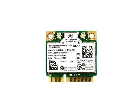 8TF1D - Intel Dual Band Wireless-AC 7260 WLAN WiFi 802 11 ac/a/b/g/n +  Bluetooth 4 0 Half-Height Mini-PCI Express Card - 8TF1D