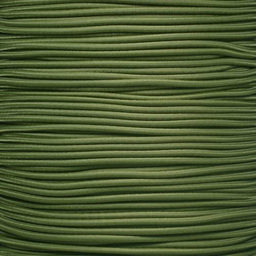 """3//8 3//16 5//8 5//16 PARACORD PLANET Elastic Bungee Nylon Shock Cord 2.5mm 1//32 1//4 1//2 inch Crafting Stretch String 10 25 50 /& 100 Foot Lengths Made in USA 1//8/"""" 1//16"""