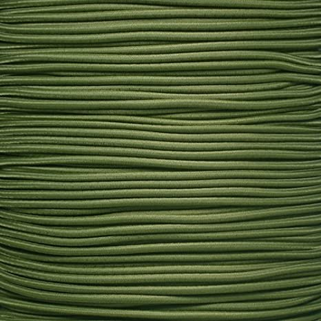 """5//8 1//8/"""" 3//16 1//2 inch Crafting Stretch String 10 25 50 /& 100 Foot Lengths Made in USA 1//4 1//16 3//8 PARACORD PLANET Elastic Bungee Nylon Shock Cord 2.5mm 1//32 5//16"""