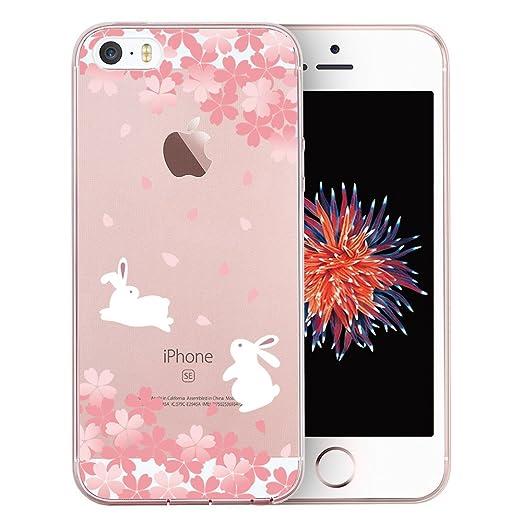 6 opinioni per Cover iPhone SE, TrendyBox Cute Trasparente Case Cover per iPhone 5 5S SE (Fiori