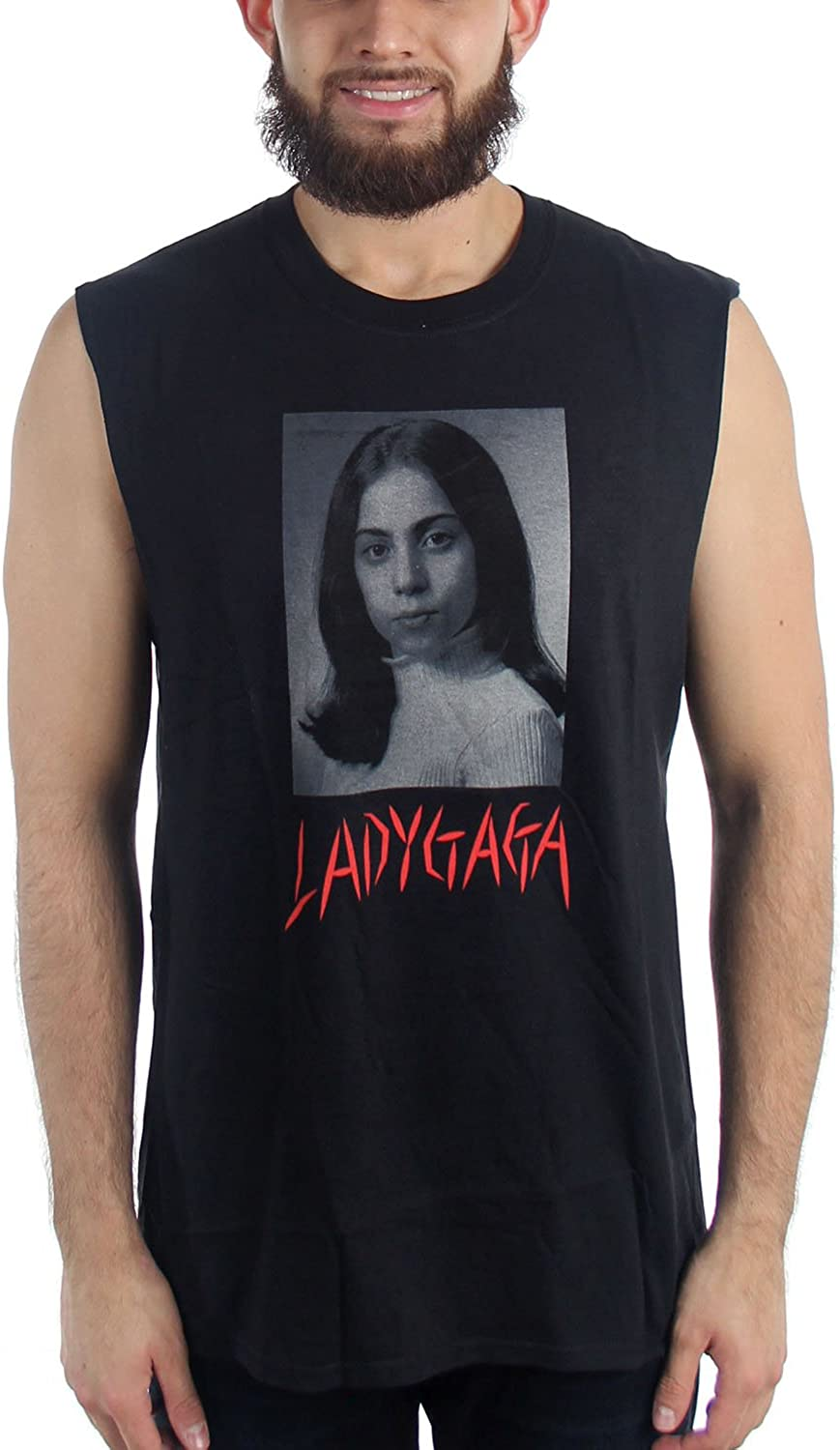 Lady Gaga School Photo Joanne Black Tank Muscle T Shirt New Official