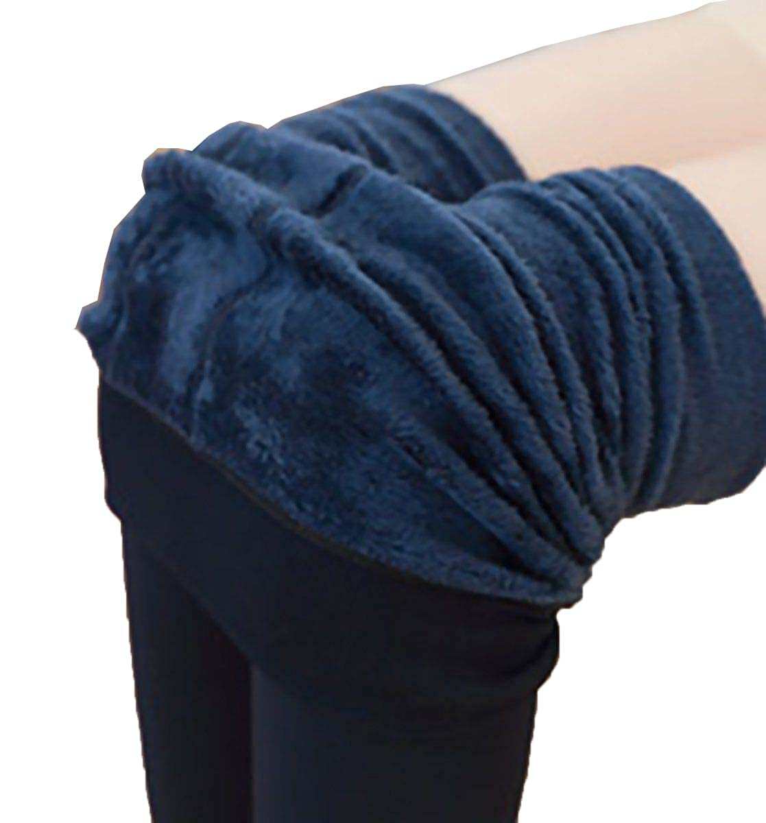 USGreatgorgeous Women Winter Thick Warm Fleece Lined Thermal Stretchy Leggings Pants Full Length Stockings