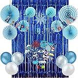 Nautical Decor Birthday Kit HAPPY BIRTHDAY Banner Decoration Ocean for Boy + Photo Booth Props Birthday