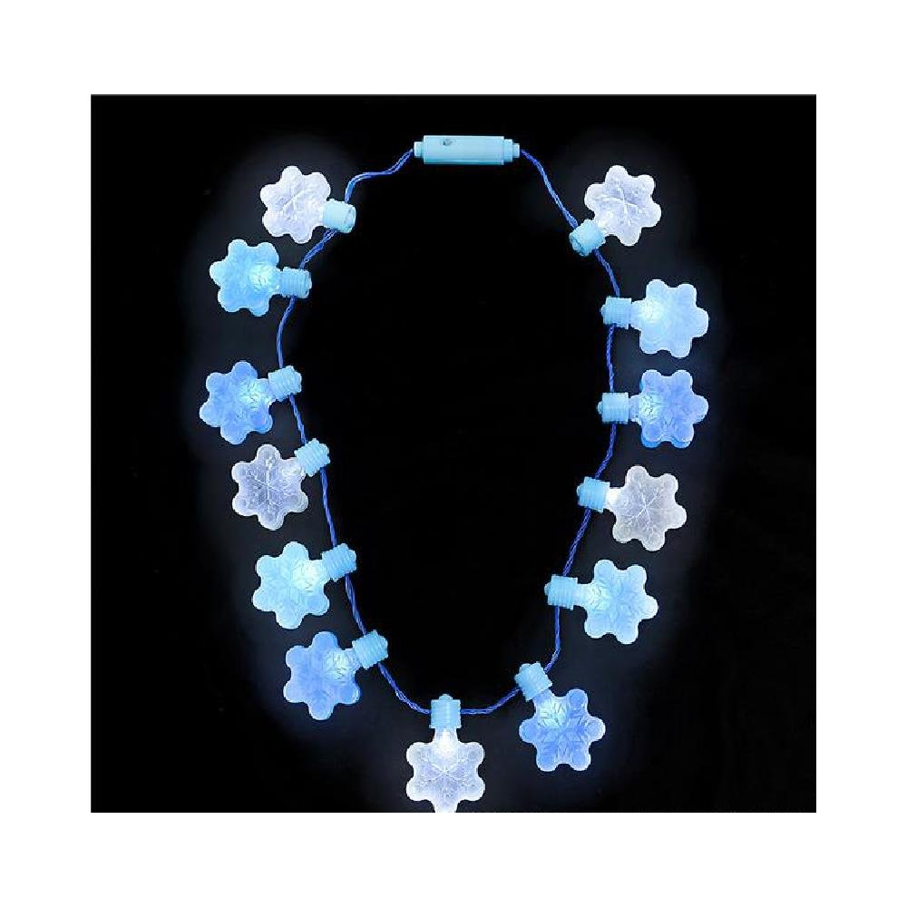 16'' Light-Up Jumbo Snowflake Necklace by Bargain World