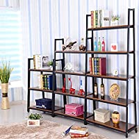 Magshion* Metal Home Decorate Bookcase 2 Colors Choose 3,4,5 Tier Shelf (Black, 3 Shelf)