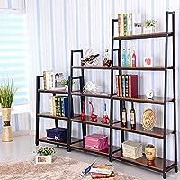 Magshion* Metal Home Decorate Bookcase 2 Colors Choose 3,4,5 Tier Shelf (Black, 3 Shelf)