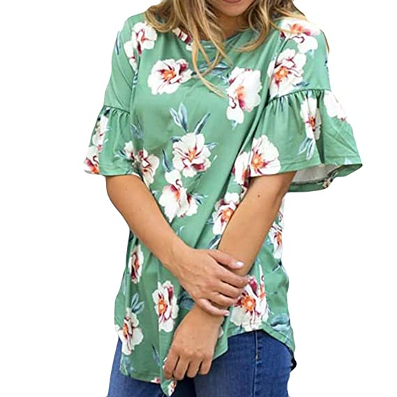 LILICAT Camiseta de Moda para Mujer 2018 Camiseta de Manga Corta con Estampado de Mujer Camiseta