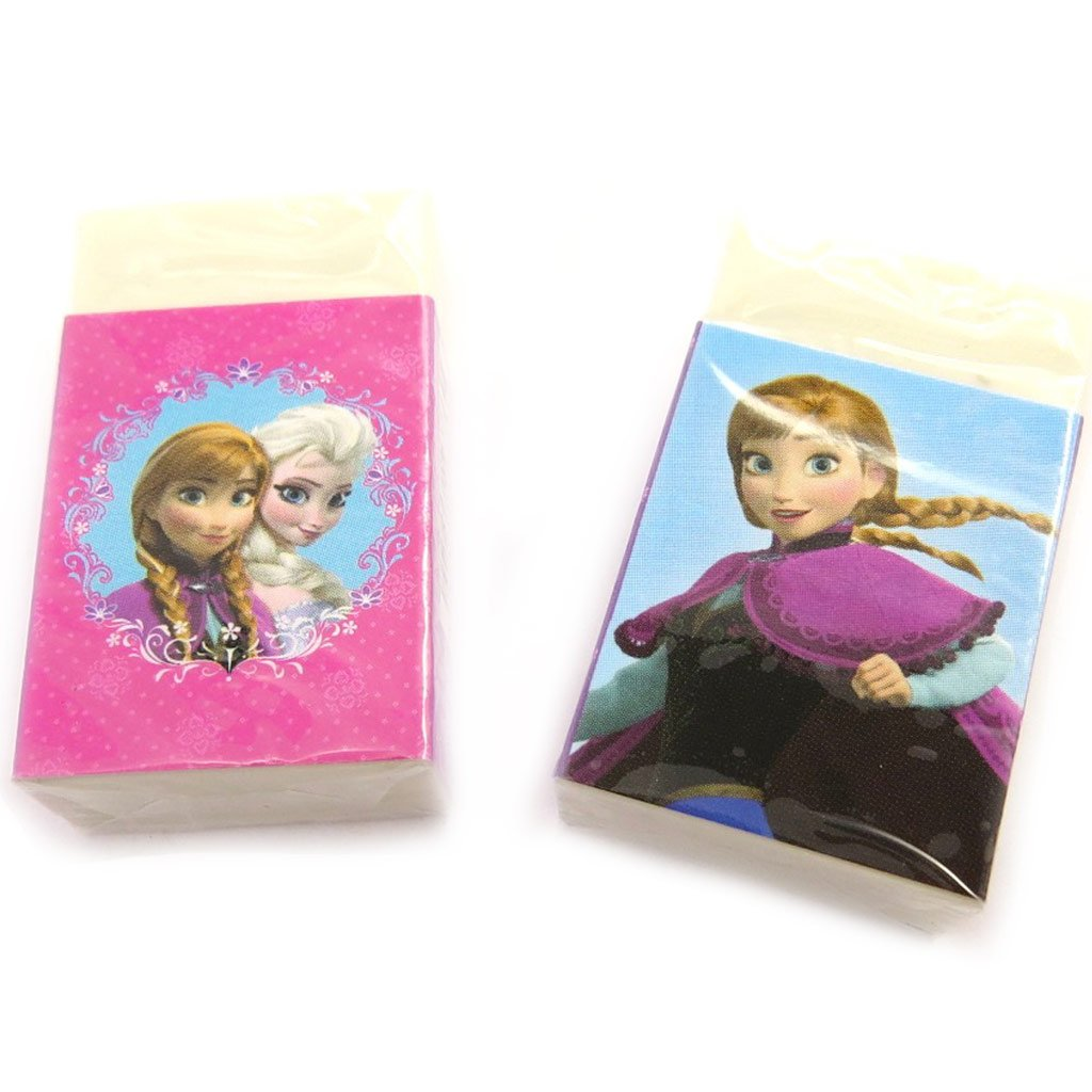 Set of 2 Gums 'Frozen - Reine Des Neiges'pink Blue.