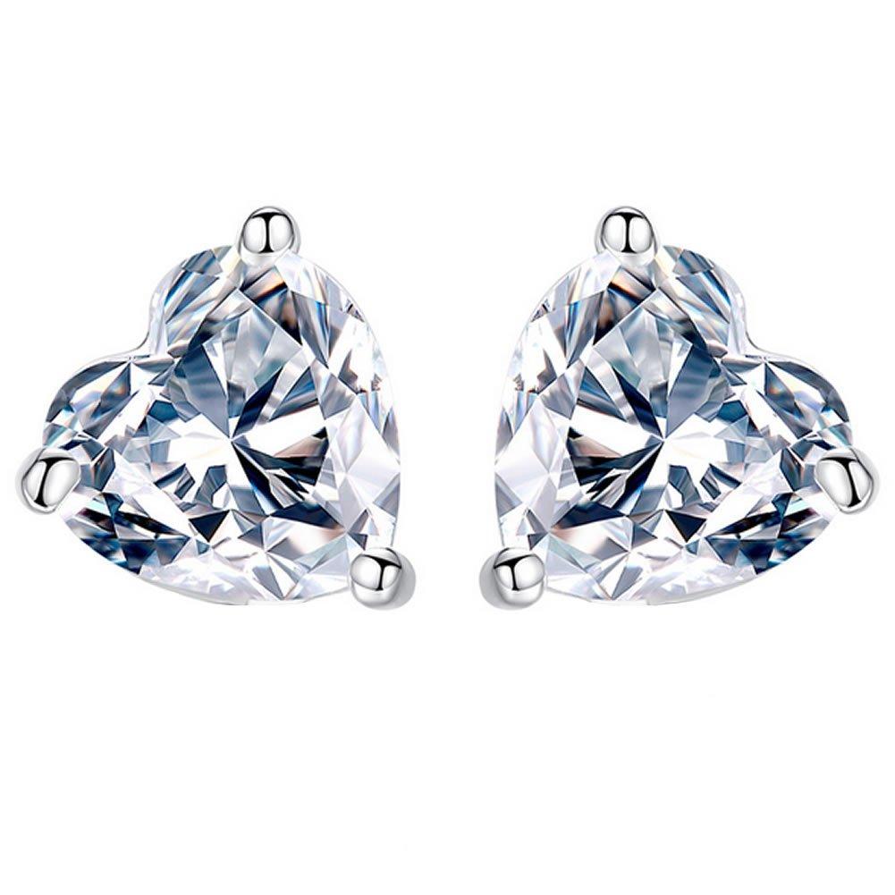 Joyfulshine Women Earrings Studs 925 Sterling Silver Cubic Zirconia Eternal Love Earrings CA8SX170727003