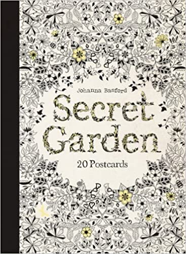 Secret Garden 20 Postcards Amazoncouk Johanna Basford Books