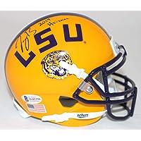 $369 » Joe Burrow Autographed/Signed LSU Tigers Yellow Mini Helmet Heisman BAS