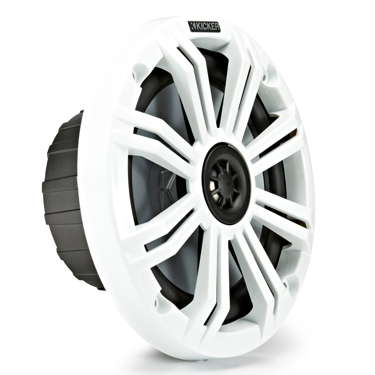 Kicker KM65 6.5-Inch (165mm) Marine Coaxial Speakers with 3/4-Inch (20mm) Tweeters, 4-Ohm, Charcoal and White Grilles by Kicker (Image #4)