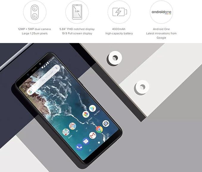 Xiaomi Mi A2 Lite 3GB RAM 32GB Dual SIM Smartphone Black: Amazon ...