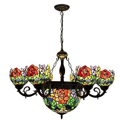 GAOLIQIN Lámparas de Estilo Tiffany Luces Colgantes de ...