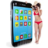 5.5-foot Jumbo iPool Smartphone Swimming Pool Float, Inflatable Water Raft by Sol Coastal