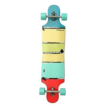 Apollo Longboard Maui DT Completo Board, rodamientos ABEC, Twin Tip - Drop de Through Freeride Skaten Cruiser Tarjeta: Amazon.es: Deportes y aire libre