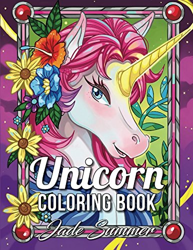 Unicorn Coloring Book: An Adult Coloring Book with Magical Animals, Cute Princesses, and Fantasy Scenes for Relaxation]()