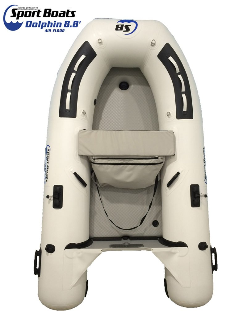 Inflatable Sport Boats - Dolphin 8.8' - Model 270 - Air Deck Floor Dinghy with Seat Bag