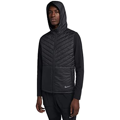 3904436a6f4a Nike Men s AeroLayer Running Jacket Black Atmosphere Grey Size Small ...