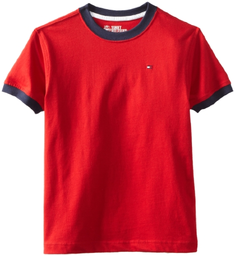 - Tommy Hilfiger Big Boys' Core Crew Neck Ken Tee, Regal Red, X-Large (20)