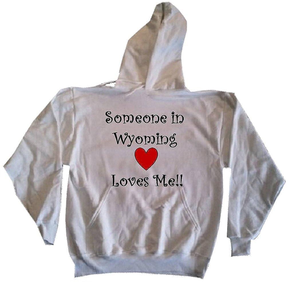 SOMEONE IN WYOMING LOVES ME - State-series - Light Grey Hooded Sweatshirt / Hoodie