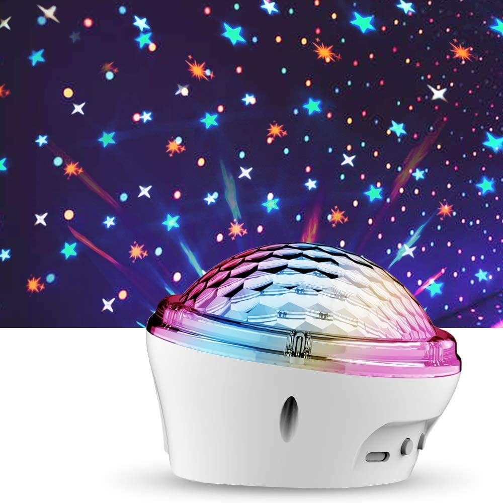 Star Night Light Projector for Bedroom Star Projector for 3 4 5 6 7-12 Year Old Girls Boy Gift for Kids Baby Adult-White