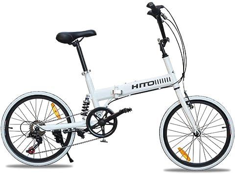 DBSCD Bicicleta Plegable de 20 Pulgadas, amortiguadora de ...
