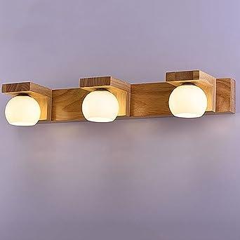Wandleuchte aus massivem Holz Spiegel Scheinwerfer Wohnzimmer ...
