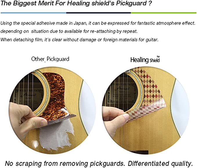 Healingshield Premium Acoustic Guitar Pickguard Style Type Clear ...