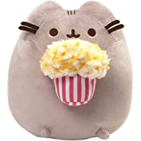 "GUND Pusheen Snackables Popcorn Cat Plush Stuffed Animal, Gray, 9.5"""