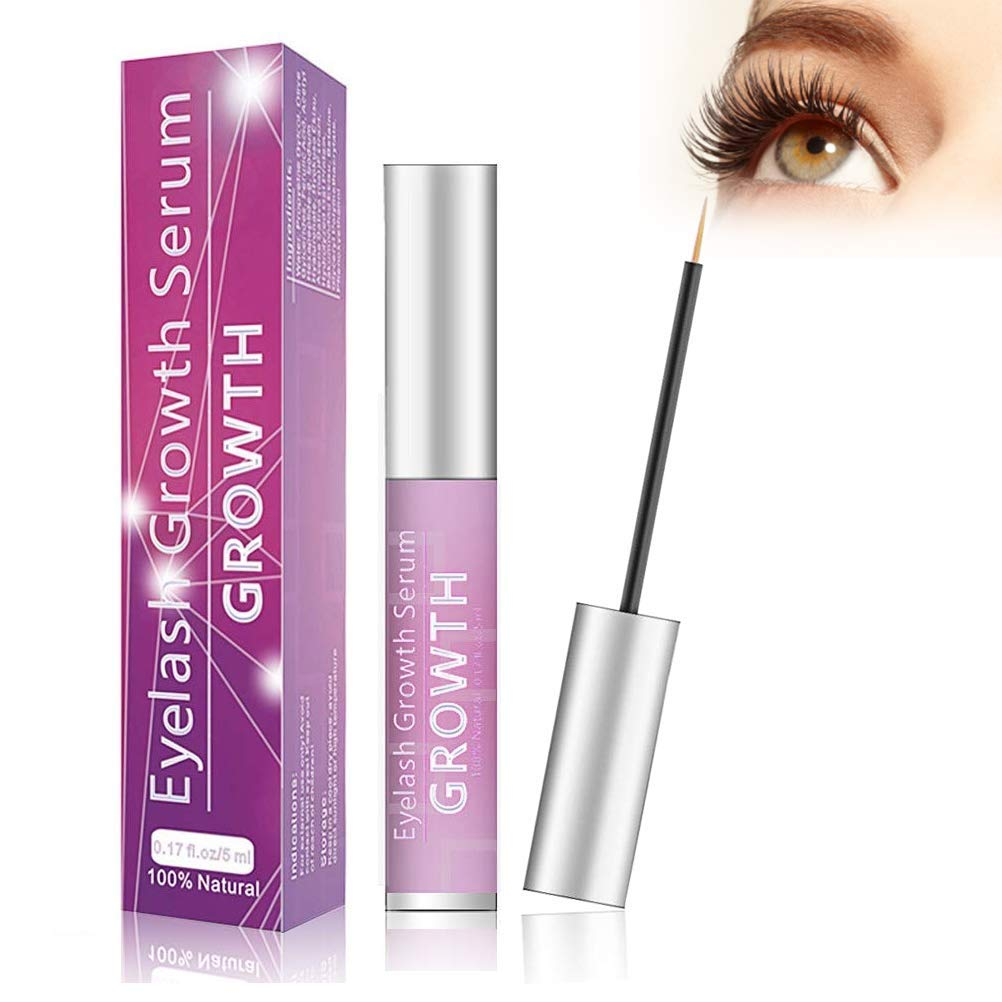 Eyelash Growth Serum Eyelash Booster Natural Eyebrow Lash Enhancer Irritation Free Formula for Longer Fuller Thicker Lashes - 5ml