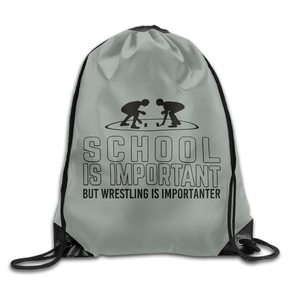 School Is Important But Wrestling Is Importanter Folding Sport Backpack Drawstring Bag Customize Fashion