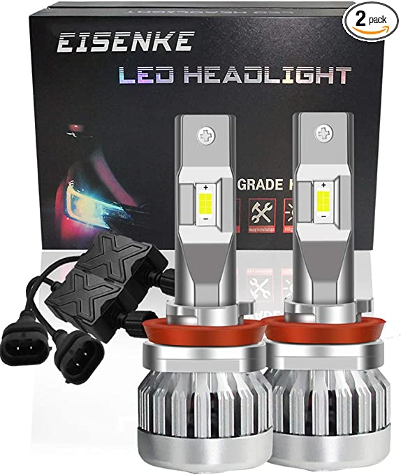 All-in-One Lighting Conversion Kit L2 Series SEALIGHT 9005//HB3 High Beam H11//H9 Low Beam LED Headlight Bulbs Combo Package 4 Bulbs 16000LM 6000K Xenon White CSP Chips