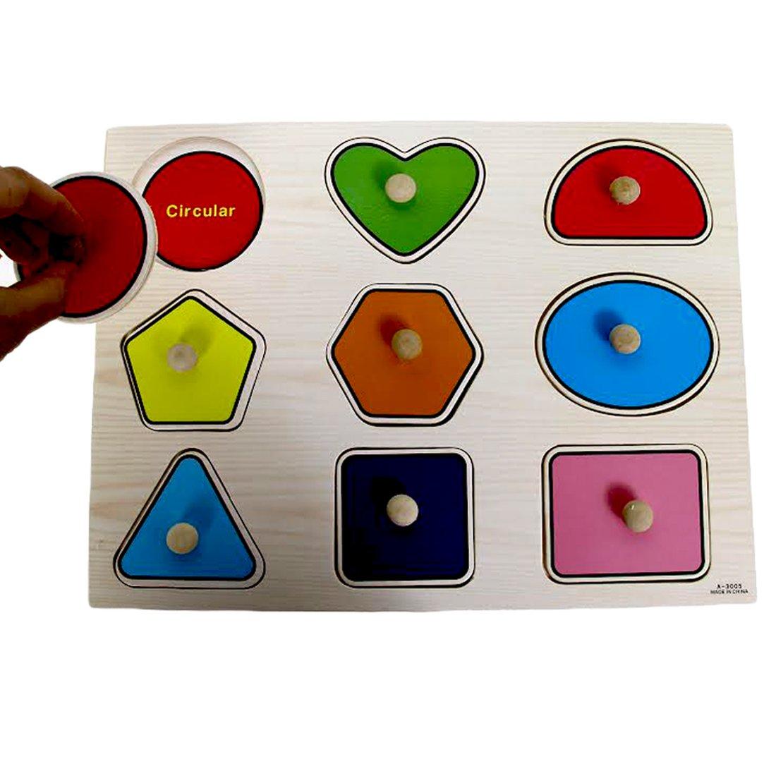 Dazzling Toys Kids Favorite Wooden Large Shapes Puzzle