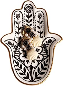 in&out Trinket Dish Hamsa Ring Dish Holder Small Jewelry Tray Decorative Plate