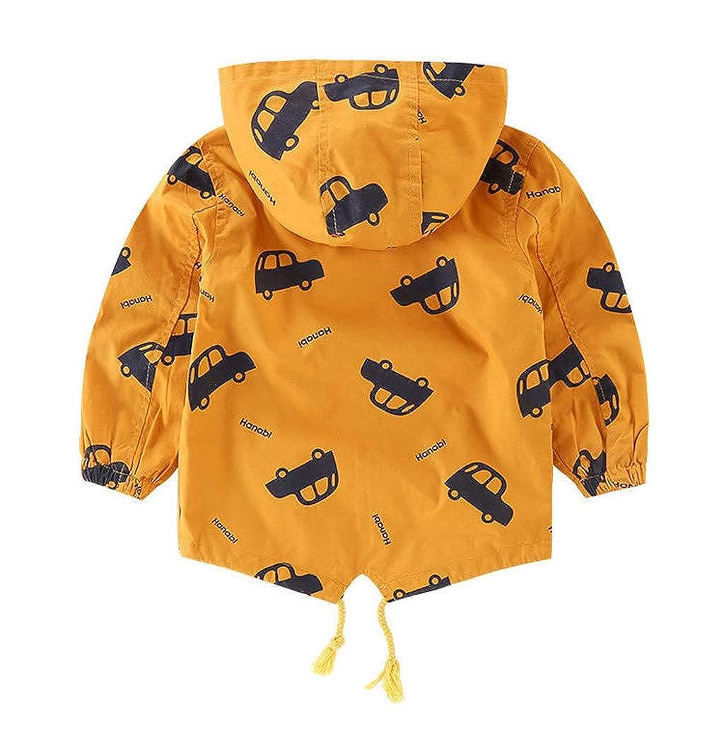 Abrigo Ni/ños 1-5 A/ños,Logobeing Beb/é Ni/ño Chaquetas de Ni/ños con Capucha Dibujos Animados con Capucha Chaqueta Gruesa C/álida Ropa Abrigo Outwear