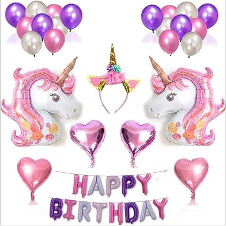 Towinle suministros de decoraciones de fiesta de unicornio ...