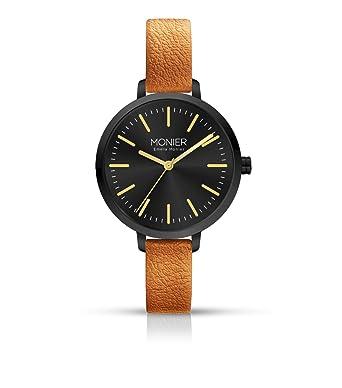 in vendita 86d57 23594 Emelia Monier m wish nero orologio da donna con cinturino in pelle ...