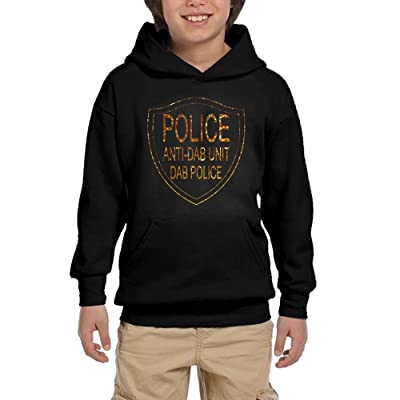 Anti Dab Unit Police Teen Boys Pullover Hoodie Fashion Pocket Sweater
