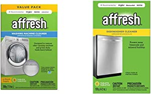 Affresh W10549846 Washing Machine Cleaner | Cleans Front Top Load Washers, Including HE, 5 Tablets & Dishwasher Cleaner | Formulated to Clean Inside All Machine Models, 6 Tablets, Original Version