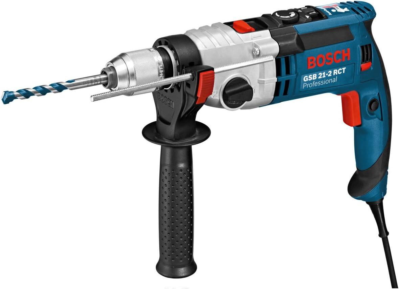 Bosch Professional Perceuse à Percussion Filaire GSB 21-2 RCT (1300 W, Couple nominal : 7,8 / 2,6 Nm, Ø de perçage dans la maçonnerie : 24 / 16 mm, Coffret)