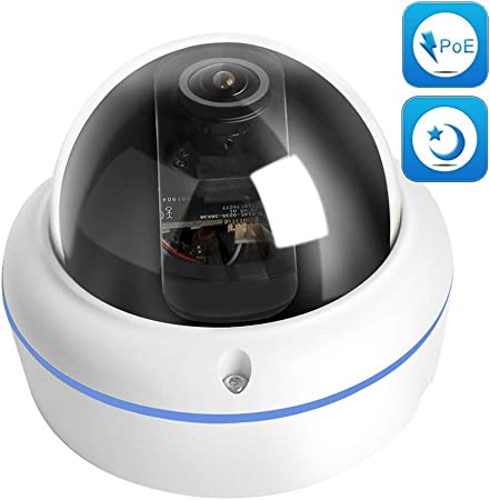 2MP Dome Starlight IP Camera POE 1080P 0.0001Lux Low Lux Day//Night Full Color