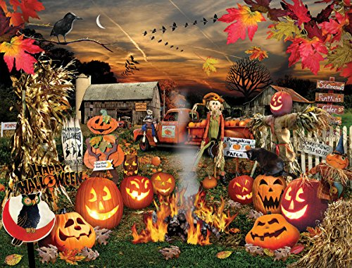 White Mountain Puzzles Jack O Lanterns, 1000 Piece Jigsaw Puzzle -