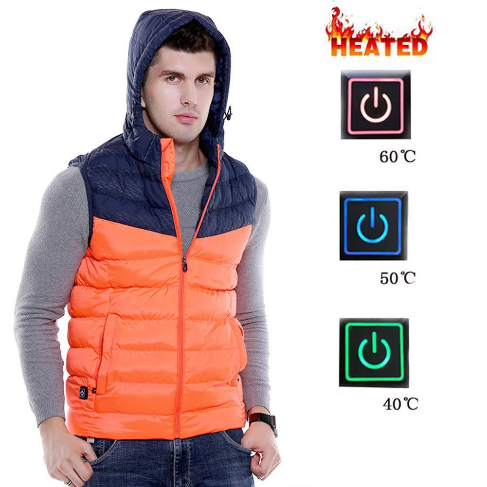 Beheizter Vest-Größe-Adjustable Elektrowaret für Outdoor-Wandern, Orange