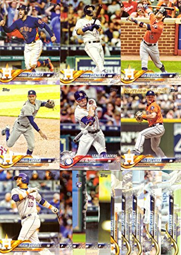 2018 Topps Series 1 Houston Astros Baseball Card Team Set - 16 Card Set - Includes Jose Altuve, Carlos Correa, Alex Bregman, George Springer, 2017 World Series Cards, and more!