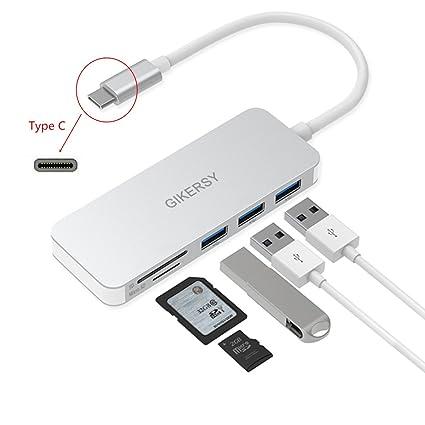 Concentrador 5 en 1 HUB USB-C, con 3 Puerto Super Velocidad USB ...
