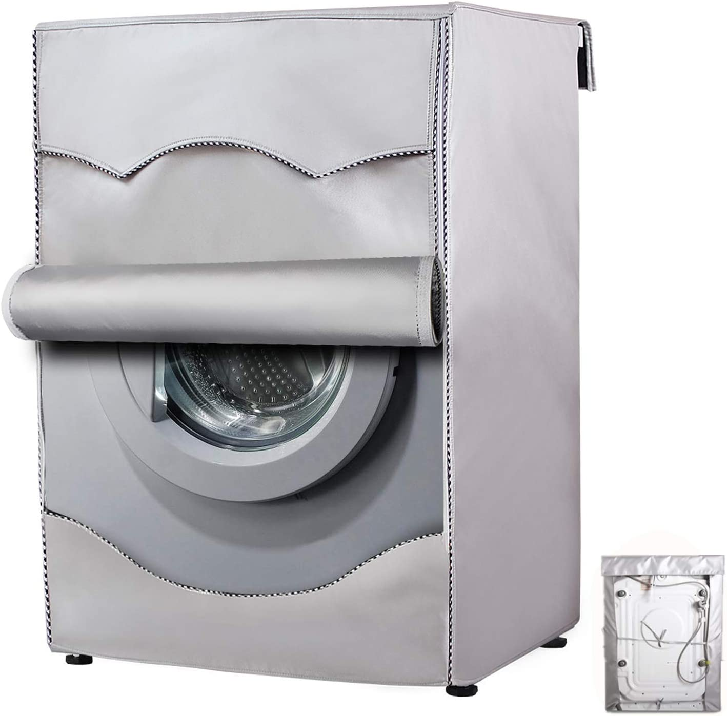 Durable Washing Machine Cover Waterproof Dustproof For Front Load Washer//Dryer