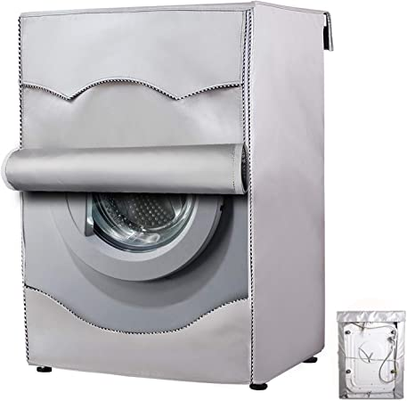 Washing Machine Cover,Washer/Dryer cover For Front-loading Machine Waterproof Dust-proof Thicker (W27