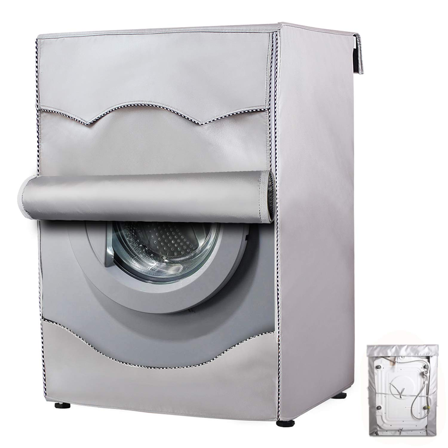 Washer/Dryer cover For Front-loading machine Waterproof dustproof Thin (W23 D25 H33 in,Thin)